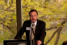 Invited speaker, Gary J. Morgan, director of the Michigan State University Museum and faculty initiate of The Honor Society of Phi Kappa Phi. - click to enlarge - opens in new window