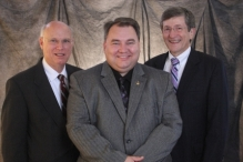 From left to right: Past Phi Kappa Phi President Robert B. Rogow, MSU Chapter President Burton A. Bargerstock, and Current Phi Kappa Phi President William A. Bloodworth, Jr. - click to enlarge - opens in new window