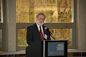 Invited speaker Rick Shale, Vice President, North Central Region, the Honor Society of Phi Kappa Phi - click to enlarge - opens in new window